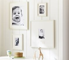 PB kids white gallery frames