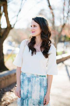 Watercolor Maxi Skirt | Midtown Magnolia Blog