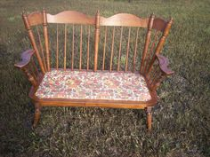 Tell City Chair Company Vintage Maple Love Seat Rocker Maple Furniture, Colonial Furniture, City Furniture, Furniture Companies, Early American Decorating, Dining Arm Chair, Cottage Style, Country Decor, Love Seat