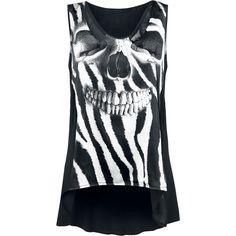 Dark Zebra - Top Mujer por Alchemy England - Número Artículo: 260737 - desde 37,99 € - EMP Mailorder España:::La venta por correo y on line Rock Metal Punk: Camisetas, CD, DVD, Pósters, ropa e merchandise oficial