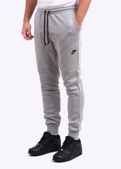 5c85322b89 Tech Fleece Pant - Grey Nike Tech Fleece Pants, Fleece Shorts, Grey Jeans  Men
