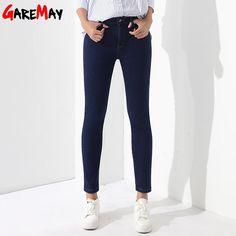 dca7b8bfcd9 Winter Pants Jeans Female Velvet Warm Pencil Jeans Elastic Denim Thicken  Pants For Women Pantalon Taille Haute Femme