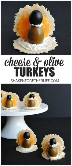 Cheese & Olive Turkeys - last minute quick Thanksgiving appetizers!