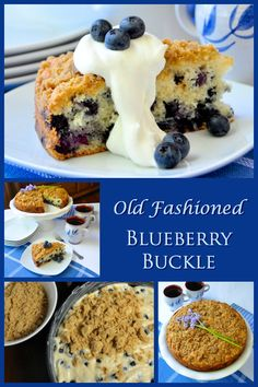 Blueberry Buckle - an old fashioned dessert favorite. Substitute practically any ripe fruit during the season and enjoy different versions all summer long.