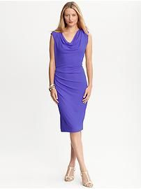 Banana Republic Meditteranean Blue Cowlneck dress