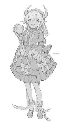 Anime Drawings Sketches, Anime Sketch, Manga Drawing, Manga Art, Cute Drawings, Character Design References, Character Art, Lineart Anime, Drawing Reference Poses
