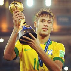 Neymar FIFA Golden Ball for - Confederations Cup 2013 Brazil Football Team, Football Fever, National Football Teams, Messi And Neymar, Lionel Messi, Cool Nikes, Soccer Quotes, Trx, Fifa World Cup