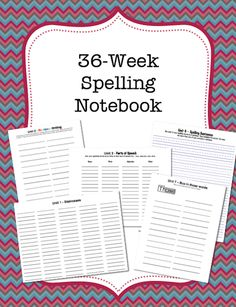This is a printable journal for students to practice their spelling words. Comes with sheets for 12 different teacher-favorite spelling activities that repeat 3 times each over the course of 36 weeks. The activities are fun for the kids and also help the kids practice various grammar skills. There is room on each journal page for up to 25 spelling words.