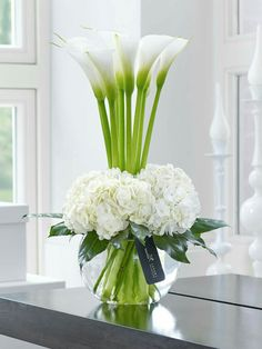luxury cars - Luxury Calla Lily & Hydrangea Vase This contemporary designer arrangement is right on trend We've chosen ultrafashionable calla lilies in pristine white and created a surround of sumptuous hydrangea blooms with their richly textured flowers Hydrangea Vase, Hydrangea Not Blooming, Flower Vases, Bouquet Flowers, White Hydrangeas, Vase For Flowers, Calla Lillies Bouquet, Lilies Flowers, Lily Bouquet