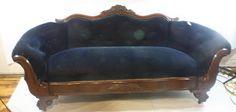 blue velvet antique sofa inspiration
