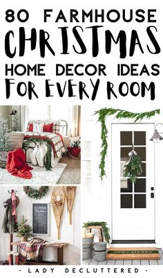 From the front door, through the kitchen, and even into the bathroom we have found the most satisying farmhouse Christmas decor anyone can DIY. #ladydeluttered #farmhousechristmasdecor #kitchenchristmasdecor #livingroomchristmasdecor #bedroomchristmasdecor Christmas Living Rooms, Christmas Bedroom, Christmas Porch, Farmhouse Christmas Decor, Rustic Christmas, Christmas Ideas, Christmas Inspiration, Christmas Stuff, Christmas Gifts