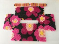 Inspired Marimekko tissue box cover perler beads by k-chippy Diy Perler Beads, Pearler Beads, Fuse Beads, Pearler Bead Patterns, Perler Patterns, Bead Organization, Organizing, Crochet Organizer, Iron Beads