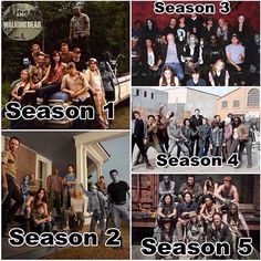 5 seasons of cast photos that keep getting smaller and smaller...