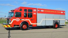 Minneapolis Fire Department new turck by Custom Fire Apparatus- Gladiator #Rescue #Setcom #Fire #FireDept #Apparatus #Firefighting new deliveries