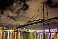 Hercilio Luz Bridge - Florianopolis SC - Brazil. I love it and i miss it :(