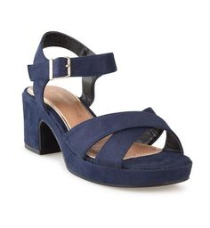 Buy Truworths Navy Shaped Heel Sandal Online | Truworths Blue Sandals Heels, Wardrobe Ideas, Ankle Strap, Fashion Online, Lady, Stuff To Buy, Shopping, Shoes, Zapatos