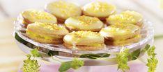 Sitruunaiset herrasväen pikkuleivät Candy Cookies, Panna Cotta, Cheesecake, Baking, Vegetables, Ethnic Recipes, Desserts, Food, Tailgate Desserts