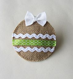Burlap Christmas Ornaments #2