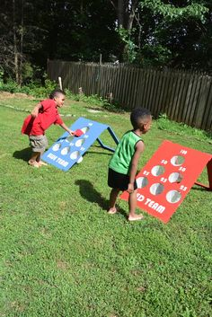 With just plywood, a riveter, rivets, mesh, and paint, learn how to make this DIY backyard bean bag toss game for summer family fun!