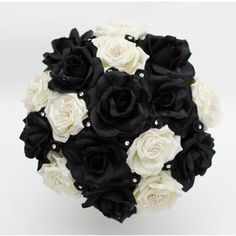 Goth Wedding Bouquet Using Black Wedding Flowers  Keywords: #weddings #jevelweddingplanning Follow Us: www.jevelweddingplanning.com  www.facebook.com/jevelweddingplanning/