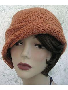 Draped Brim Flapper Hat - a friend made me this in dark purple, it's a gorgeous hat!