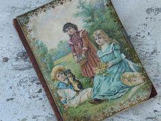 Antique Victorian Photo Album Children