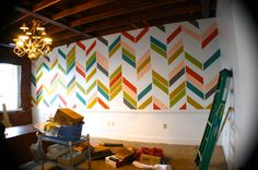 L. O. V. E. this herringbone painted wall by Kristen F. Davis!!   photo IMG_1808_zpsea0d9671.jpg