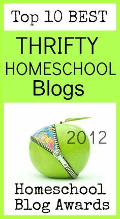 Top Ten Thrifty Homeschool Blogs @The Homeschool Post