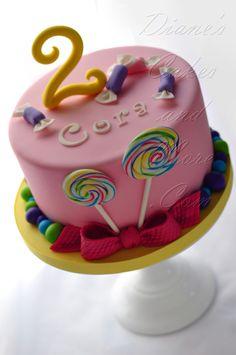 Lollipop Cake - mummy i like the candy cake.