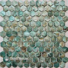 Free Shipping Dyed Green Color Natural Chinese Freshwater Shell Mother Of Pearl Mosaic Tile For Bathroom