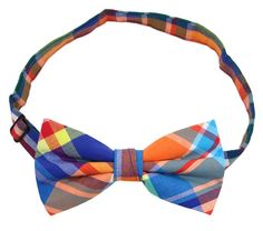 Cotton Colored Plaid Bow Ties for Adult and Young Man (100% Cotton)