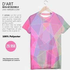 #polychromatic #polygons #triangles #geometry #lines #mesh #grid #colorful #stylish #abstract #modern #art #tshirt #unisex #liveheroes #liveheroesshop #digitalartcreations