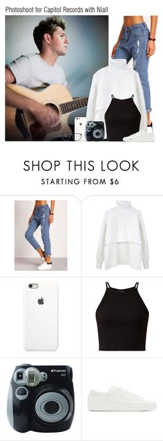 """""""Photoshoot for Capitol Records with Niall"""" by chanelniall ❤ liked on Polyvore featuring Alexander Wang, Polaroid, Yves Saint Laurent and Linda Farrow"""