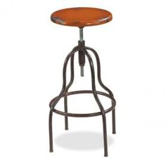 Industrial Loft Barstool, Orange