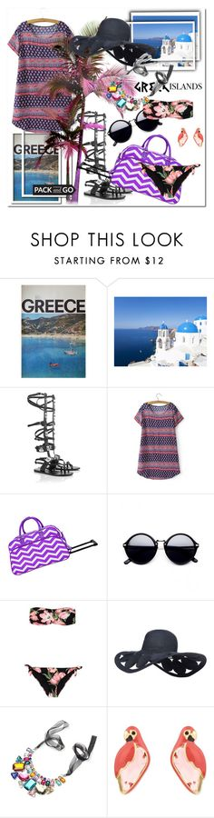 """""""Greek Islands"""" by ilona-828 ❤ liked on Polyvore featuring Ancient Greek Sandals, Dolce&Gabbana, Kate Spade, Packandgo and greekislands"""