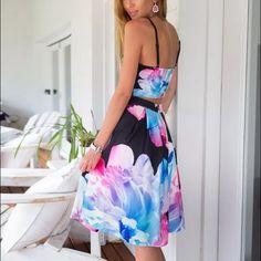 2 piece floral set As shown! Dresses