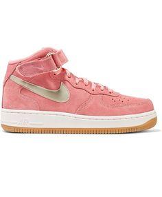 e716a8a28144da Nike Air Force 1 Suede High Top Pink Sneakers Cheap Sale Cheap Air Force 1