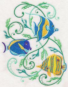 Tropical Fish Potpourri design (M4575) from www.Emblibrary.com