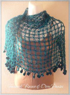 "Chal ""Calipso"" #crochet #shawl #tejido"