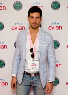 David Gandy Photos - David Gandy attends the Evian VIP Suite at Wimbledon on June 20, 2011 in London, England. - Evian VIP Suite At Wimbledon