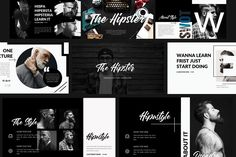 Hipster free Powerpoint Template is a modern and minimal design. The template is multi-purpose and will work with any presentation while impressing your audience. This template is great for business, conferences, and many other presentations. Business Brochure, Business Card Logo, Presentation Design Template, Design Templates, Ppt Design, Presentation Layout, Startup, Keynote Template, Creative Business