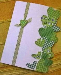 Valentine Day Cards, Holiday Cards, Christmas Cards, Homemade Birthday Cards, Homemade Cards, Paper Cards, Diy Cards, St Patricks Day Cards, Love Cards