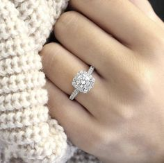 Dream Engagement Rings, Engagement Ring Styles, Wedding Engagement, Most Beautiful Engagement Rings, Square Engagement Rings, Popular Engagement Rings, Halo Setting Engagement Rings, Tiffany Engagement Rings, Different Engagement Rings