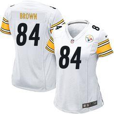 NFL Womens Game Nike Pittsburgh Steelers http://#84 Antonio Brown White Jersey$69.99