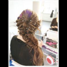 """6 kedvelés, 0 hozzászólás – Szabó Éva Fodrász (@szaboeva.hair) Instagram-hozzászólása: """"👰Menyasszonyi Frizura👑 _________________________________ . . . . . . . #haj #fodrász #frizura…"""" Dreadlocks, Hair Styles, Beauty, Instagram, Fashion, Hair Plait Styles, Moda, Fashion Styles, Hair Makeup"""