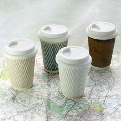 Coffee Cup, Ceramic Travel Mug With Lid - dining room