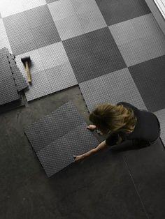 Installing Garage Floor Tiles