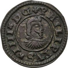 Künker: españa, Felipe IV, 8 maravedis 1662 R, Coruna, rara vez!