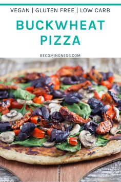 Buckwheat Pizza is my go-to pizza recipe! It is easy to prepare and is a healthy gluten free pizza where no rising is needed. Choose your toppings and enjoy! Candida Recipes, Raw Food Recipes, Diet Recipes, Healthy Recipes, Freezer Recipes, Buckwheat Recipes, Porridge Recipes, Buckwheat Waffles, Healthy Pizza