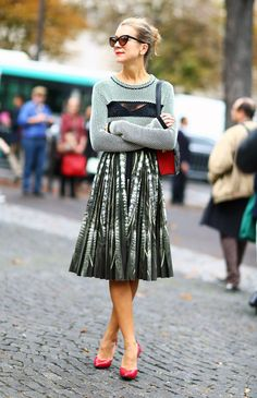 Nat Nat Joos in a lace cutout jumper and feather pleated skirt. Pretty bird she is. Skirt Fashion, Love Fashion, Womens Fashion, Fashion Trends, Urban Outfitters, Black And White Tops, Textiles, Lingerie, Classy And Fabulous
